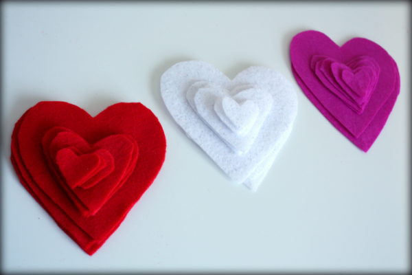 Felt Hearts for Garland